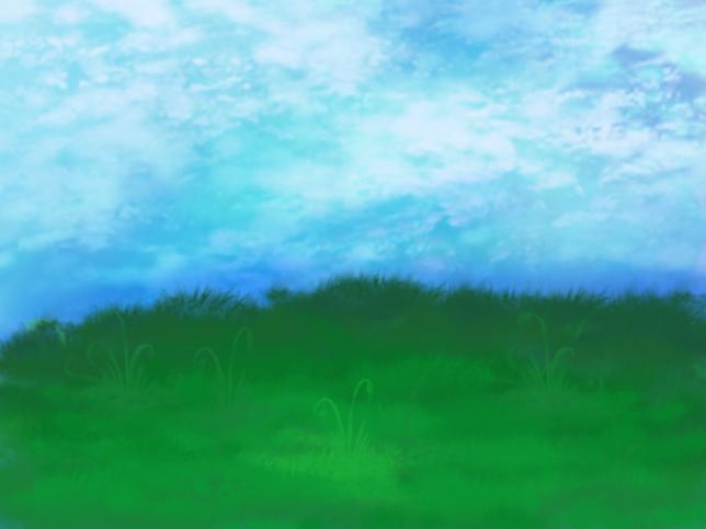 Grass field by theeliell