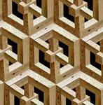 Escher wood panel
