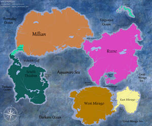 [Soren] World Map - Continents by SpicePrincess