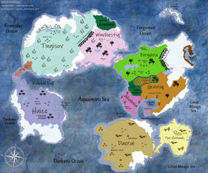 [Soren] World Map - Kingdoms and Territories by SpicePrincess