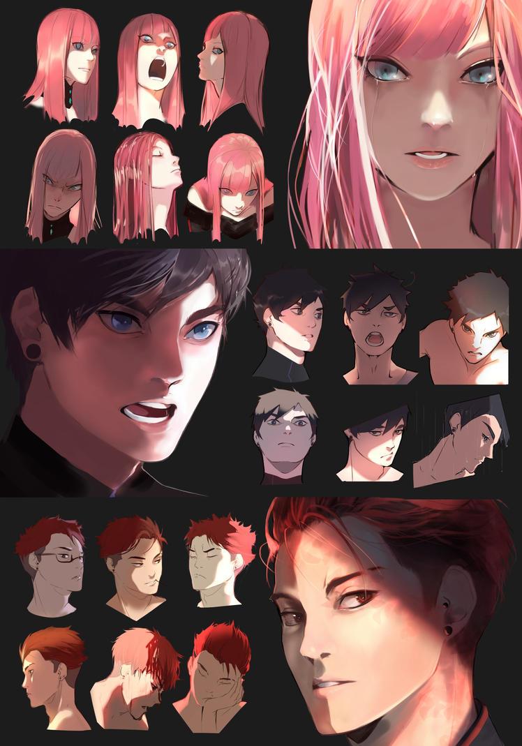 Face expression sheet - FULL by Keelita