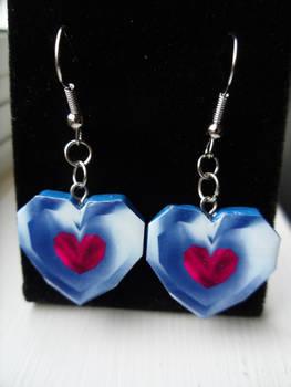 Fan Art Legend of Zelda Heart Container Earrings