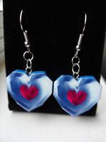 Fan Art Legend of Zelda Heart Container Earrings by skatemaster007