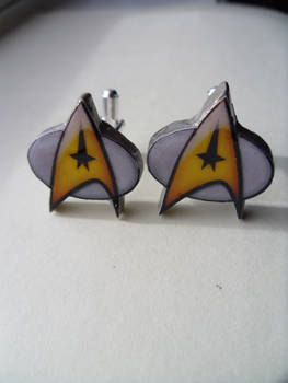 Cufflinks Star Trek Command Insignia