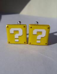 Fan Art Nintendo Mario Question Block Cufflinks