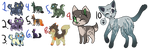 Leftover adopts (10/10 open) by ArcticKitt