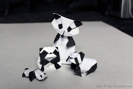 Meet The Pandas (origami)
