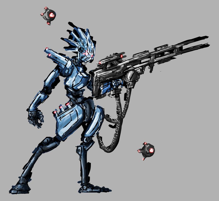 Cyborg concept art by Nuke-Em-Nic
