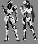 Female Combat Armor Concept
