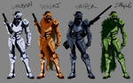 Female Combat Armor Variations