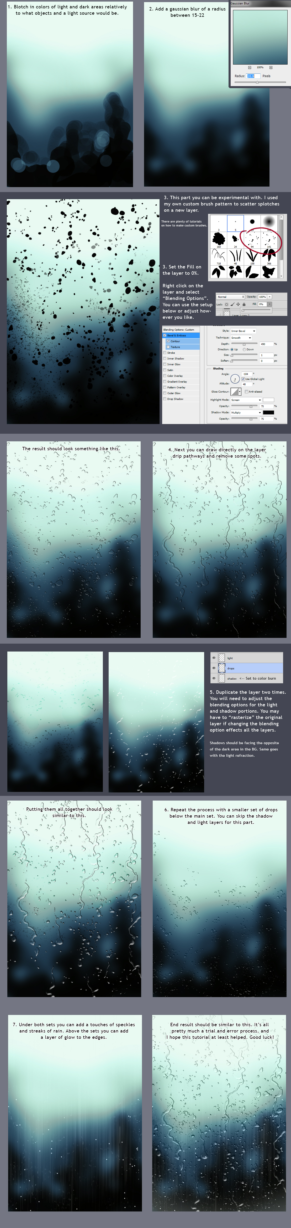 Rain Drops On A Window Tutorial By Kianite On Deviantart