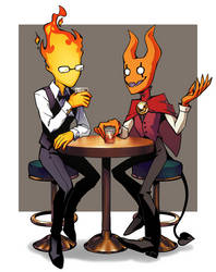 Grillby and Cashmere