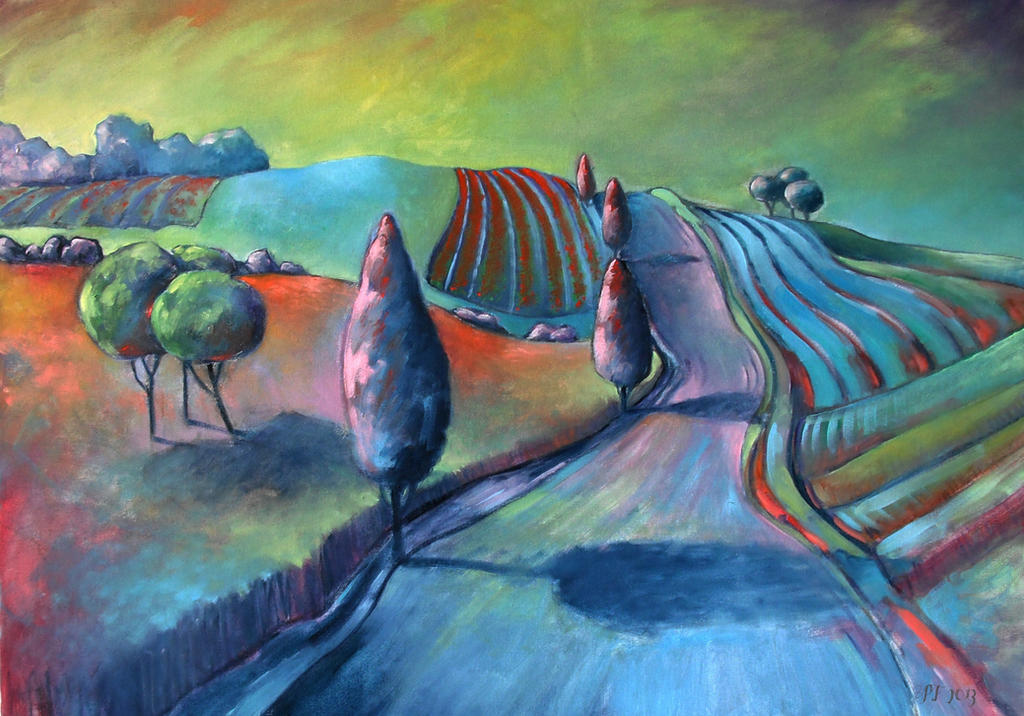 Strawberry fields oil paint by Boias
