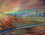 Hills oil paint by Boias