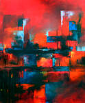 Abstract Scenery oil paint