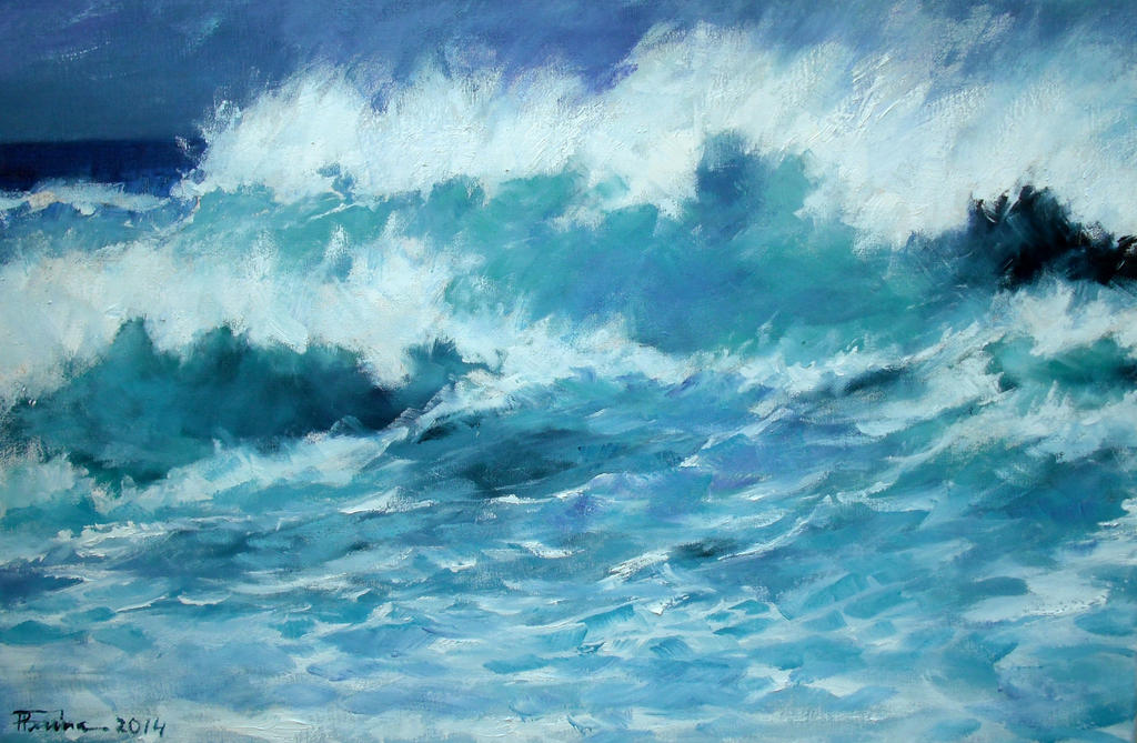 (Waves) oil paint by Boias
