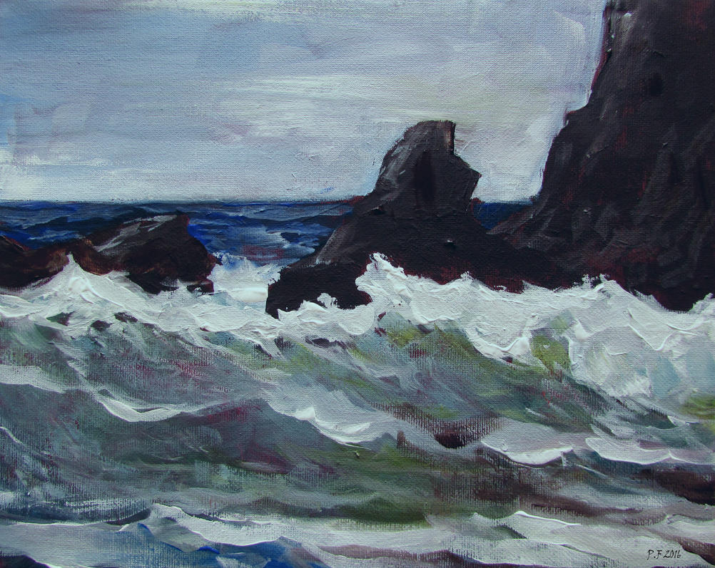 Rocks And Surf by Boias