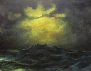 Gloomy seascape