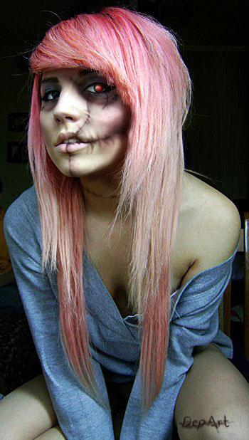 Halloween Zombie Makeup Girl | www.imgkid.com - The Image ...