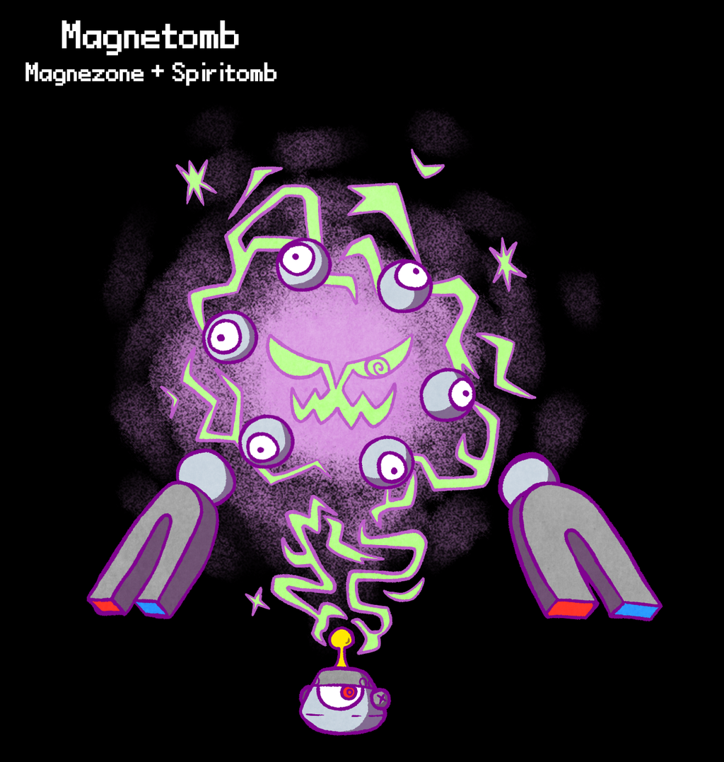PokeFusion - Electromagnetic Specter by TerriblyJadedGamer
