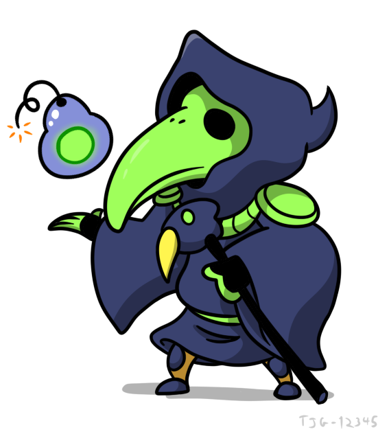 Daily Drawing 010 - Plague Knight by tjg-12345