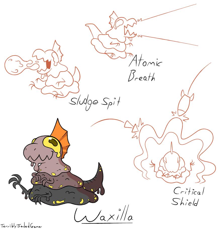 Kaiju Kritters - Waxilla by TerriblyJadedGamer