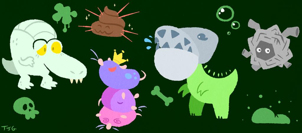 Sewer Monsters by TerriblyJadedGamer