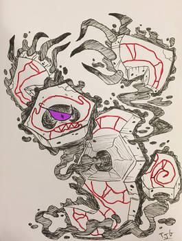 Runerigus ink drawing