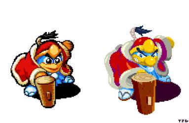 Samurai Dedede pixel art