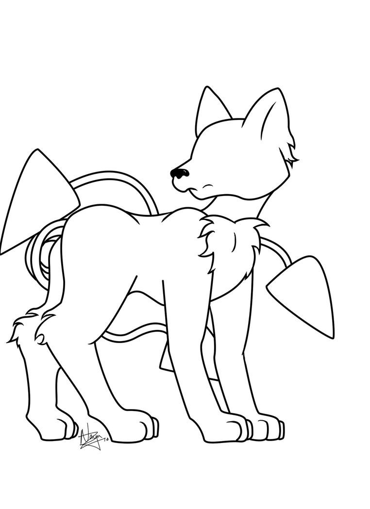 Line Art Xl 2010 : Fox line art by dragon master naya on deviantart