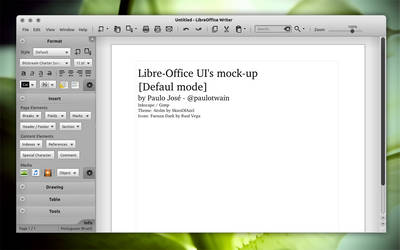 LibreOffice UI Mock-up light 1