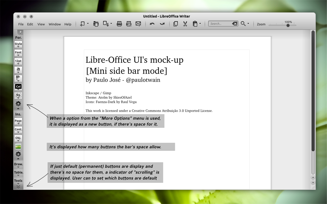 LibreOffice UI Mock-up light 2 by pauloup