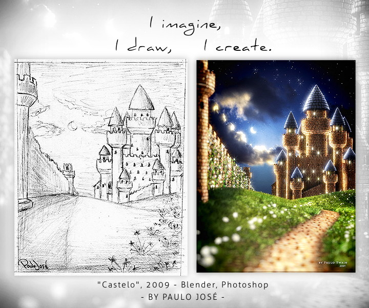 Castelo - hand draw by pauloup