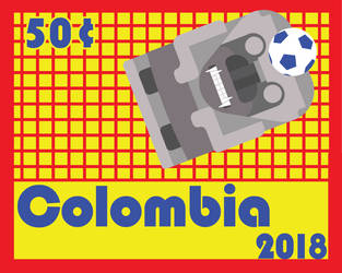 Colombia- Stamp Project- Goalie