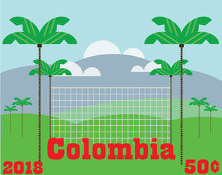 Colombia- Stamp Project- Mountains