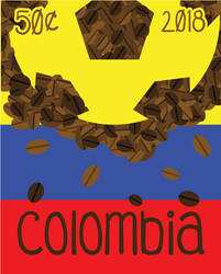 Colombia- Stamp Project- coffee