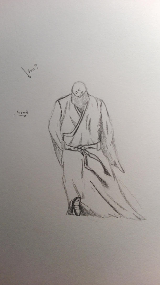 Learning to Draw#1 Old shaman by litzard
