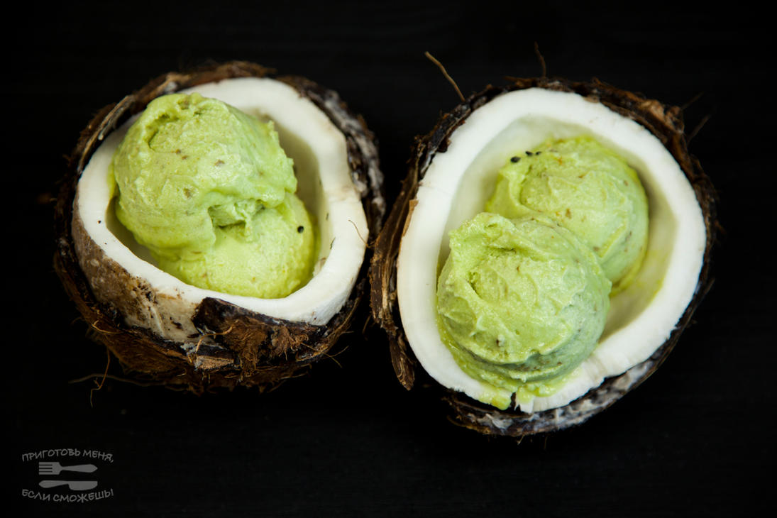 Vegan ice-cream with avocado and lime by KLutskaya on DeviantArt