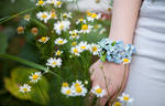 Bracelet of clay 'Forget-Me-Not'