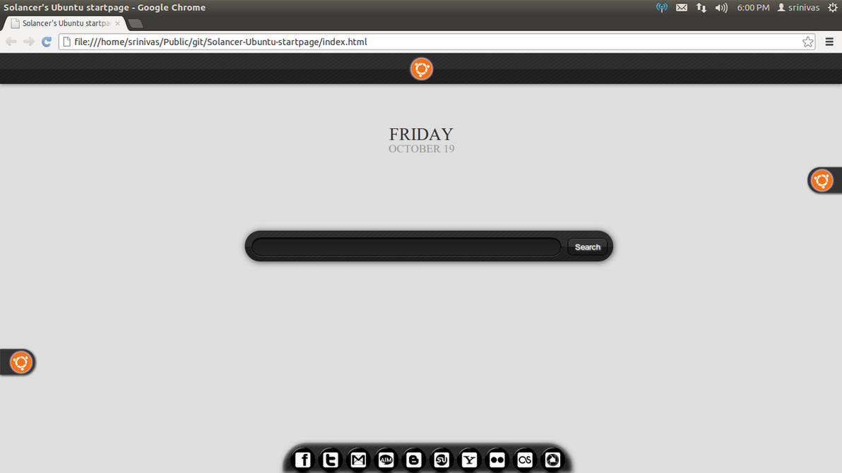 Solancer's Ubuntu startpage