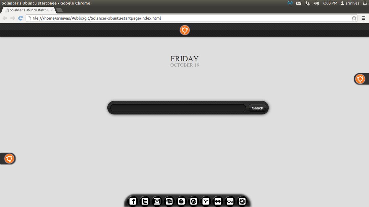 Solancer's Ubuntu startpage by solancer-com