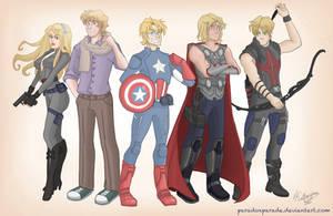 Avengers/Hetalia crossover by ParadoxParade