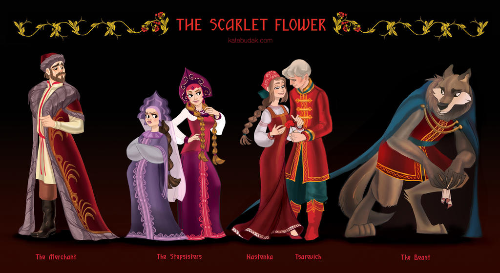 The Scarlet Flower Line Up by ParadoxParade