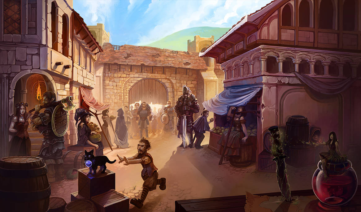 A Bustling City Gate