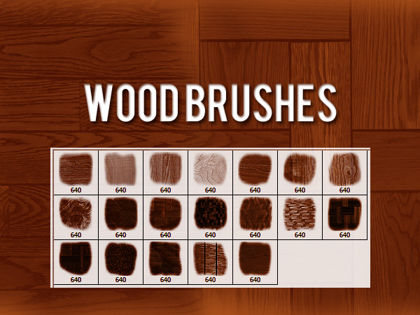 Wood Brushes by xara24
