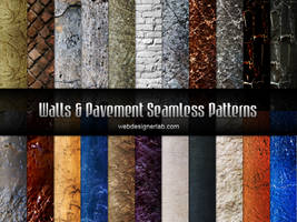Walls and Pavement Seamless Patterns by xara24