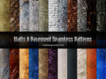 Walls and Pavement Seamless Patterns
