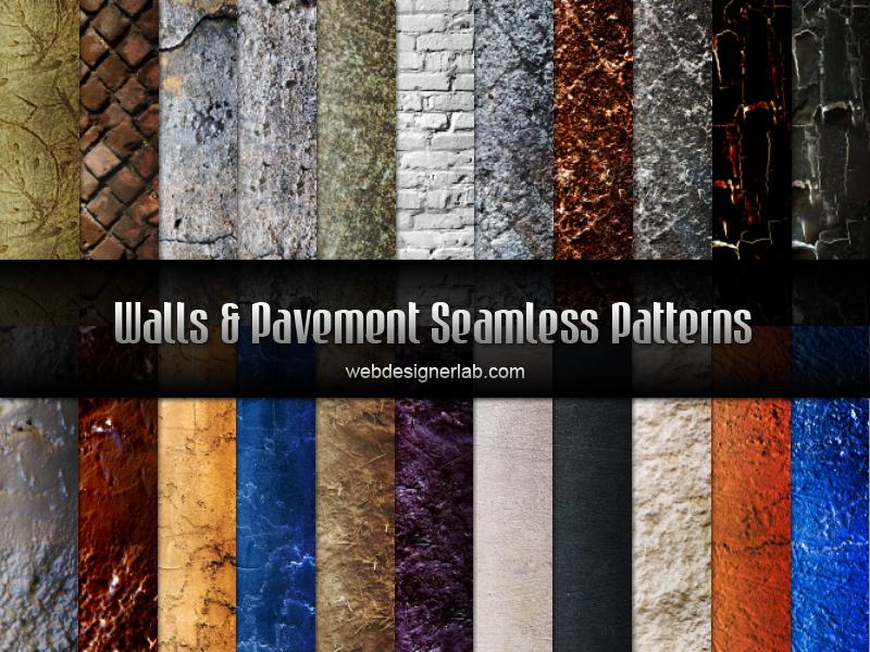 Walls and Pavement Seamless Patterns by xara24