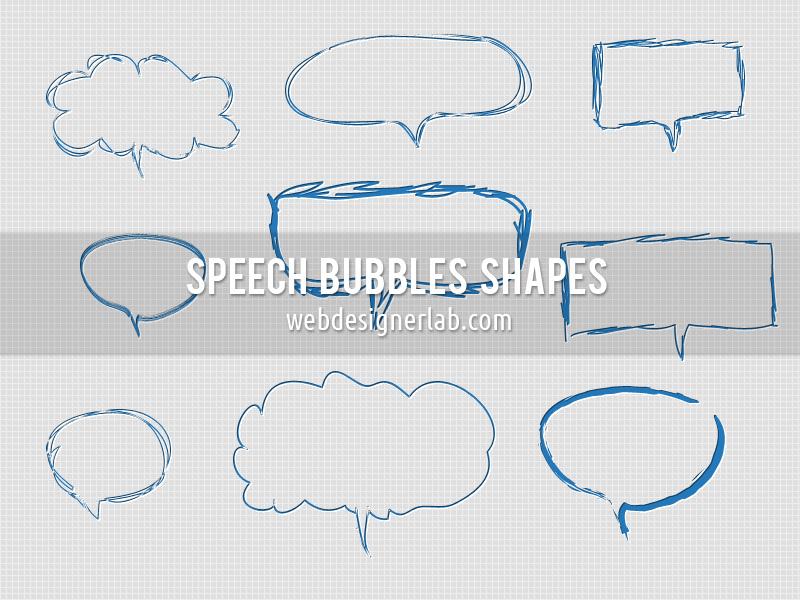 Speech Bubbles Custom Shapes by xara24