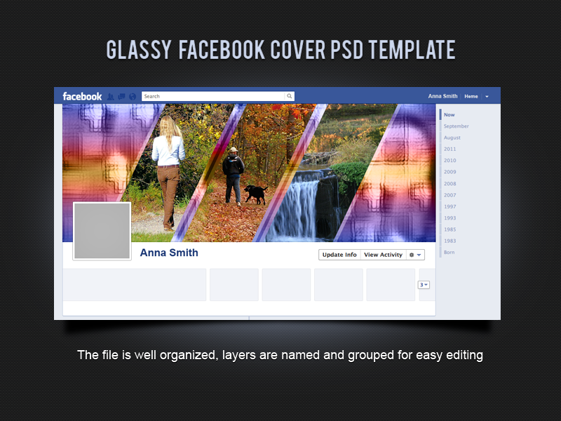 Glassy Facebook Cover Psd Template By Xara24 On Deviantart